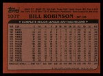 1982 Topps Traded #100 T Bill Robinson  Back Thumbnail