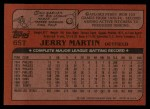 1982 Topps Traded #65 T Jerry Martin  Back Thumbnail