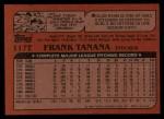 1982 Topps Traded #117 T Frank Tanana  Back Thumbnail