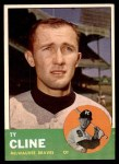 1963 Topps #414  Ty Cline  Front Thumbnail
