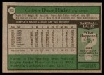 1979 Topps #693  Dave Rader  Back Thumbnail
