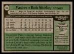 1979 Topps #594  Bob Shirley  Back Thumbnail