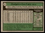 1979 Topps #441  Lee Lacy  Back Thumbnail