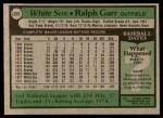 1979 Topps #309  Ralph Garr  Back Thumbnail