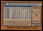 1978 Topps #350  Steve Garvey  Back Thumbnail