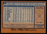 1978 Topps #69  Mike Vail  Back Thumbnail