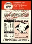1953 Topps Archives #122  Elmer Valo  Back Thumbnail