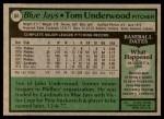 1979 Topps #64  Tom Underwood  Back Thumbnail