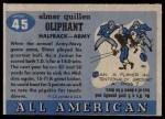 1955 Topps #45  Elmer Oliphant  Back Thumbnail
