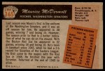 1955 Bowman #165  Mickey McDermott  Back Thumbnail