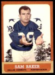 1963 Topps #79  Sam Baker  Front Thumbnail