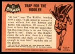 1966 Topps Batman Black Bat #45   Trap for the Riddler Back Thumbnail
