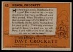 1956 Topps Davy Crockett #45   Reach Back Thumbnail