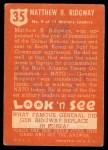 1952 Topps Look 'N See #35  Gen M Ridgeway  Back Thumbnail