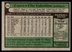 1979 Topps #535  Ellis Valentine  Back Thumbnail