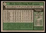 1979 Topps #392  Doug Ault  Back Thumbnail