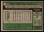 1979 Topps #174  Rick Auerbach  Back Thumbnail