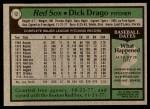 1979 Topps #12  Dick Drago  Back Thumbnail