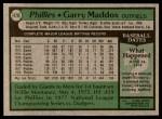 1979 Topps #470  Garry Maddox  Back Thumbnail