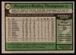 1979 Topps #336  Bobby Thompson  Back Thumbnail