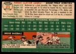 1954 Topps #21 WHT Bobby Shantz  Back Thumbnail