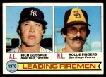 1979 Topps #8   -  Rollie Fingers / Goose Gossage Leading Firemen Front Thumbnail