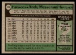 1979 Topps #278  Andy Messersmith  Back Thumbnail
