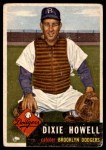 1953 Topps #255  Dixie Howell  Front Thumbnail