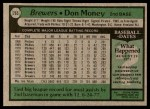 1979 Topps #265  Don Money  Back Thumbnail