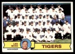 1979 Topps #66   -  Less Moss  Tigers Team Checklist Front Thumbnail