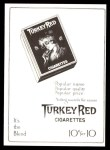T3 Turkey Red Reprint #122  Fred Tenney  Back Thumbnail