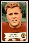 1954 Bowman #86  Eddie Price  Front Thumbnail