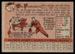 1958 Topps #469  Don Ferrarese  Back Thumbnail