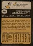 1973 Topps #357  Ross Grimsley  Back Thumbnail