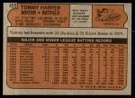 1972 Topps #455  Tommy Harper  Back Thumbnail
