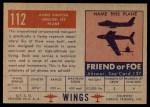 1952 Topps Wings #112   Avro Aston Back Thumbnail