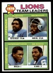 1979 Topps #357   Lions Leaders Checklist Front Thumbnail