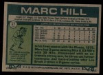 1977 Topps #57  Marc Hill  Back Thumbnail