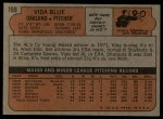 1972 Topps #169  Vida Blue  Back Thumbnail
