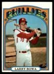 1972 Topps #520  Larry Bowa  Front Thumbnail