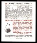 1948 Bowman REPRINT #38  Buddy Jeanette  Back Thumbnail