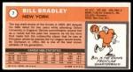 1970 Topps #7  Bill Bradley   Back Thumbnail