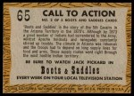 1958 Topps TV Westerns #65   Call to Action  Back Thumbnail