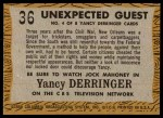 1958 Topps TV Westerns #36   Unexpected Guest  Back Thumbnail