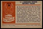 1954 Bowman Power for Peace #33   U.S. Icebreakers Traverse Northwest Passage Back Thumbnail