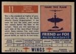 1952 Topps Wings #11   Vampire Back Thumbnail
