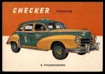 1954 Topps World on Wheels #139   Checker Taxicab Front Thumbnail
