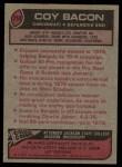 1977 Topps #250  Coy Bacon  Back Thumbnail
