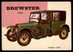 1954 Topps World on Wheels #121   Brewster Town Car 1915 Front Thumbnail