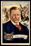 1952 Bowman U.S. Presidents #28  Theodore Roosevelt  Front Thumbnail